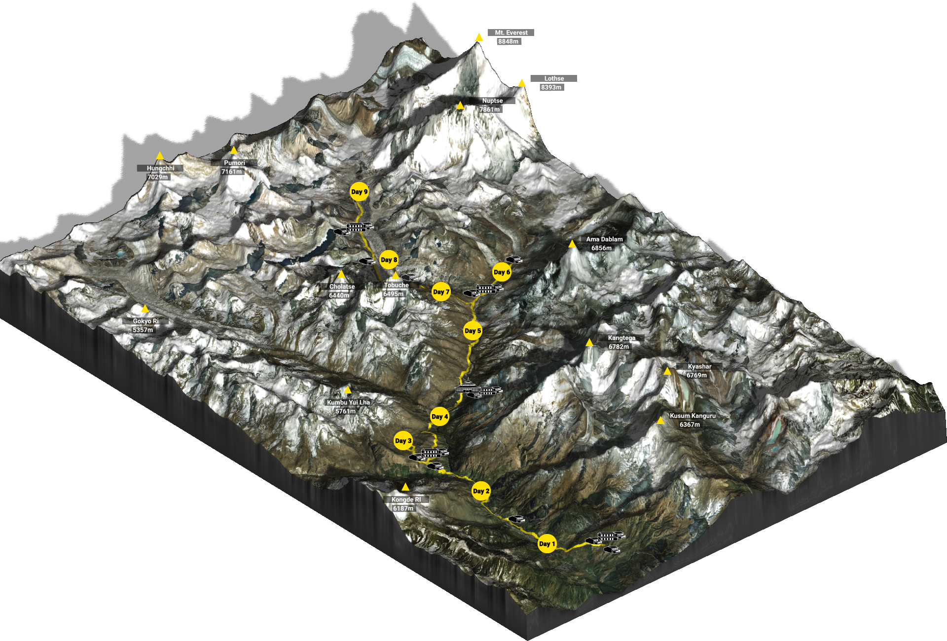 3D Map Everest Base Camp