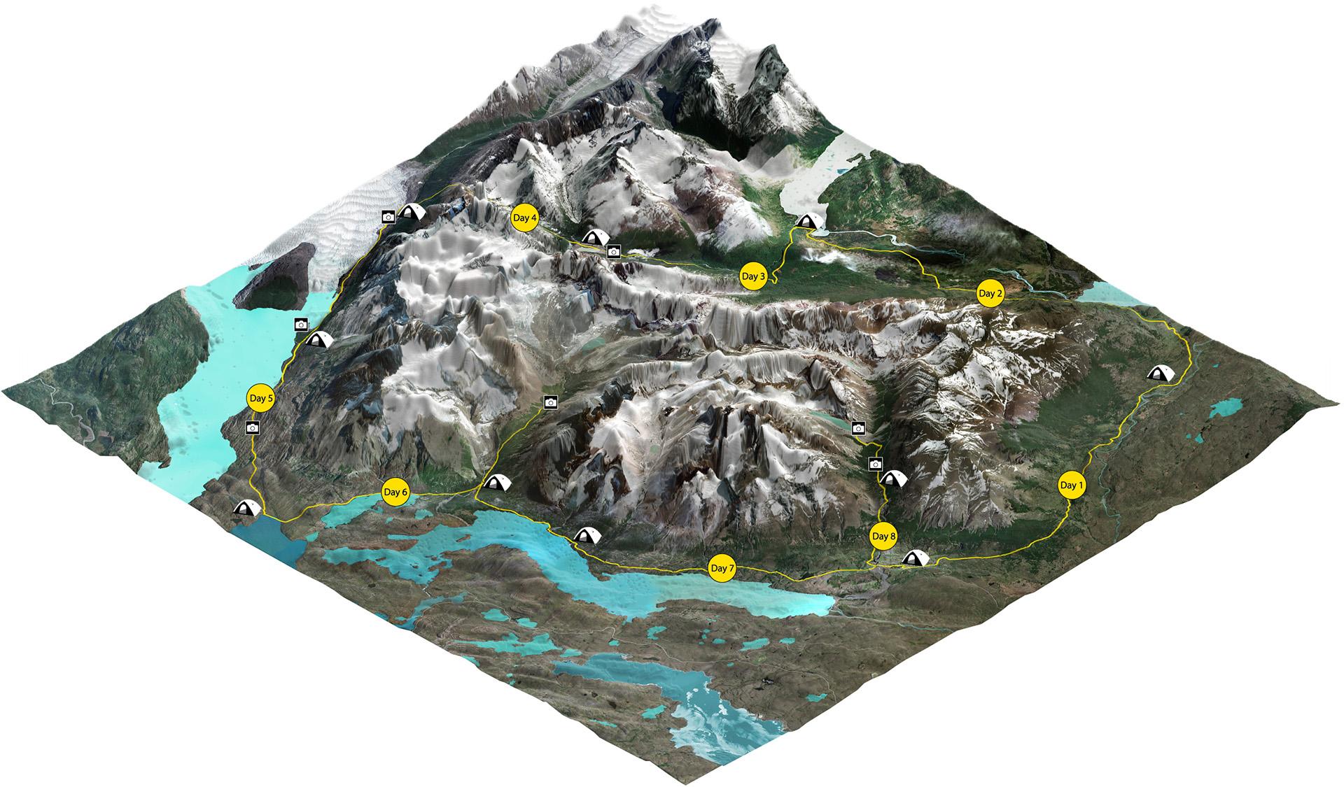 O Trek Map