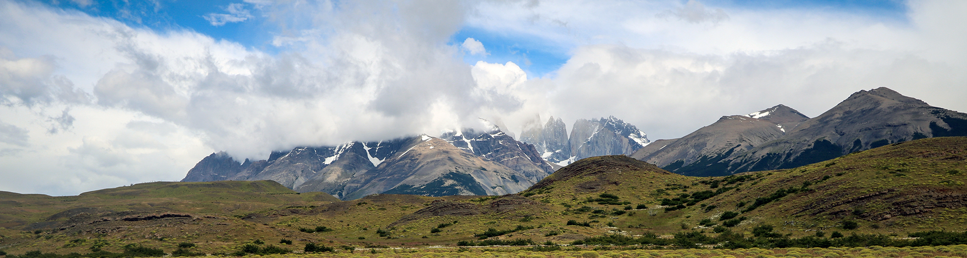 Torres del Paine | Mountains in clouds