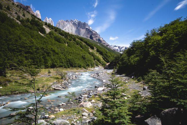 River at Campsite Chileno in Patagonia W Trek