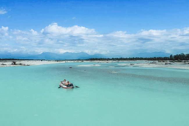 Tagliamento, Italy | Inflatable Boat Tour | Aerial View | Outside Material