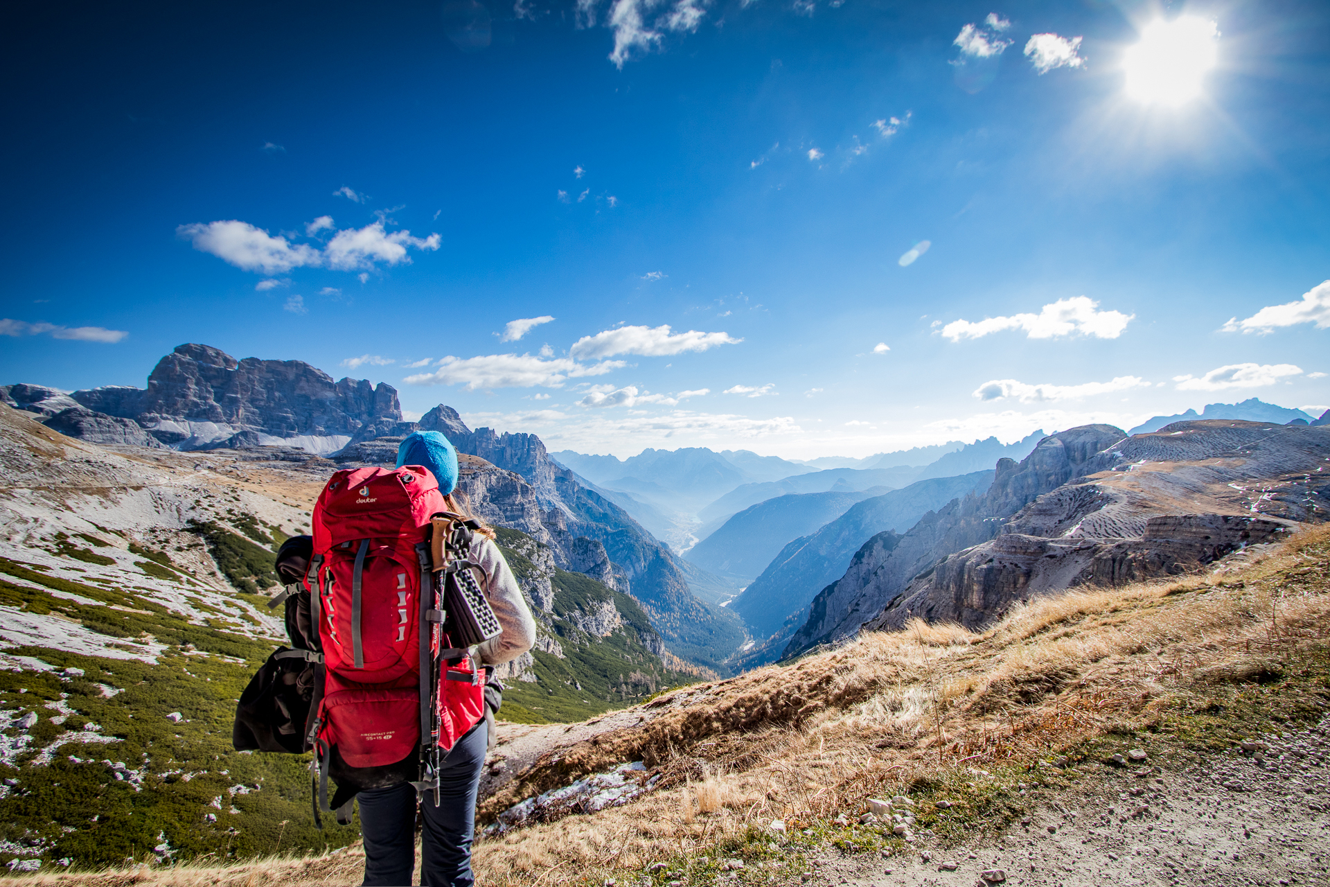 Backpack Deuter in the Dolomites