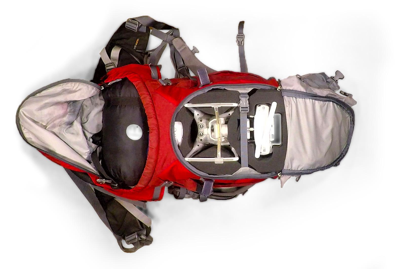 DIY Drone Case for DJI Phantom 4 in Deuter SL 60 backpack