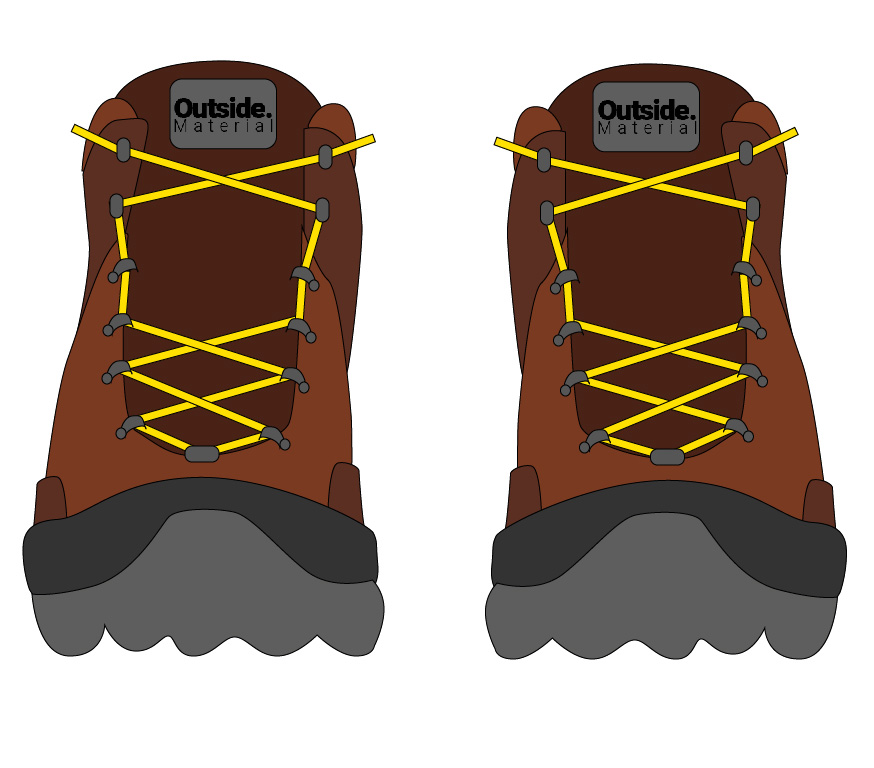 How to lace your hiking boots to relieve pain on a high midfoot | Outside Material