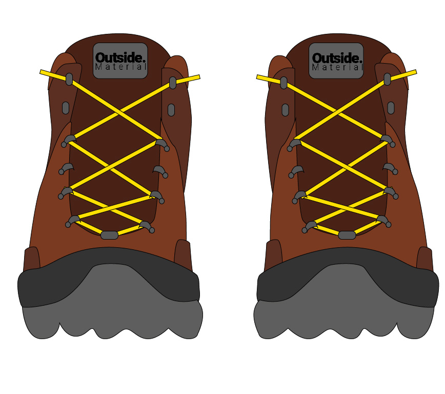 How to lace your hiking boots if you have wide feet | Outside Material