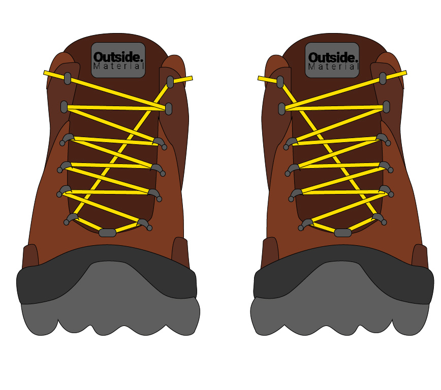 How to lace your hiking boots to relieve toe pain | Outside Material