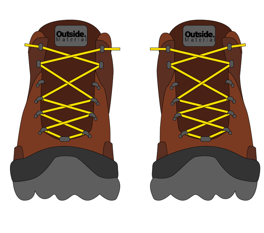 How to lace your hiking boots to relieve pain on a narrow foot | Outside Material