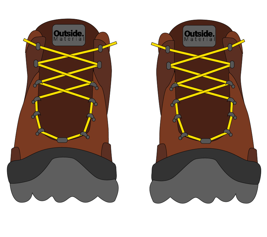 How to lace your hiking boots to relieve pain on a wide forefoot | Outside Material