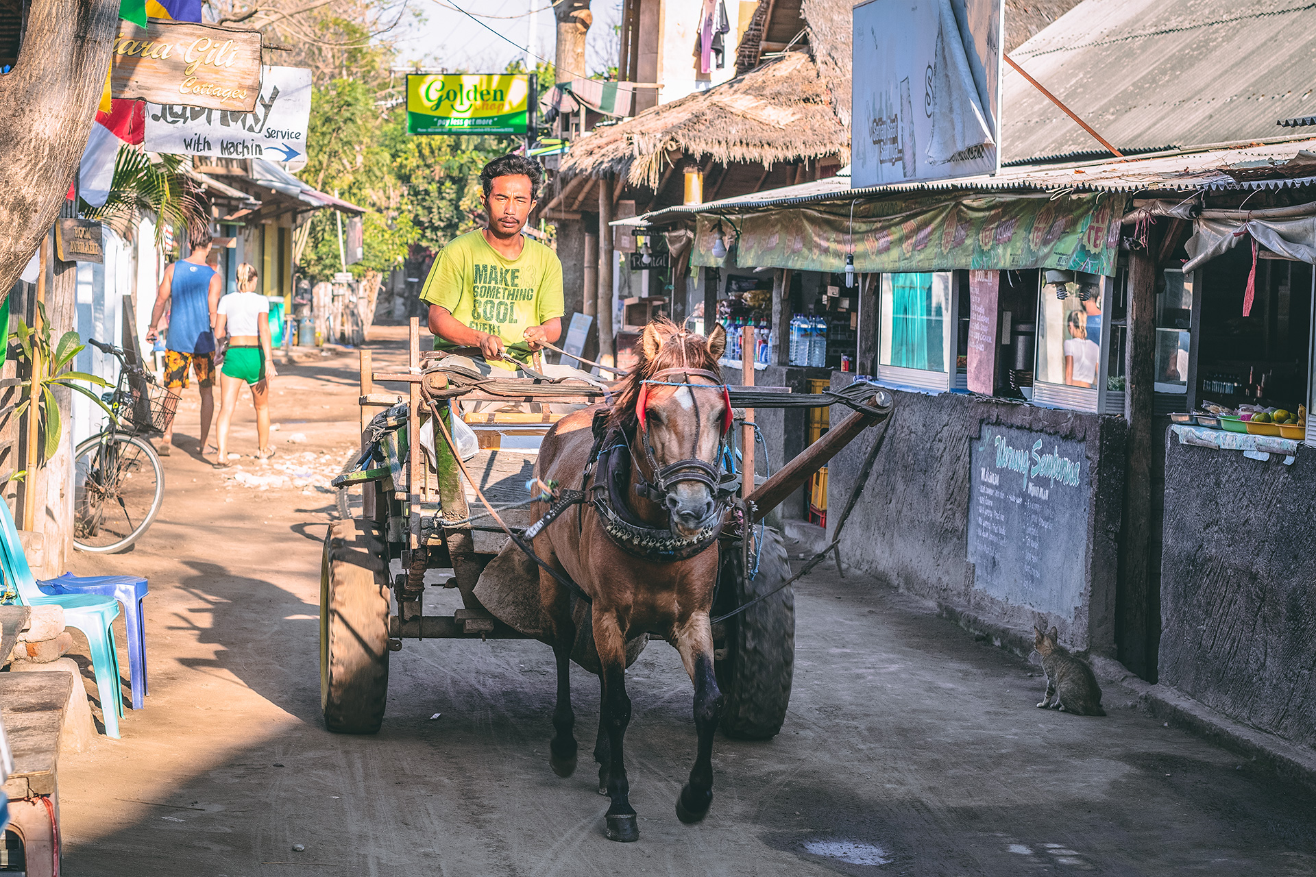 Horse Carriage, Gili Trawangan. Is it safe to travel to the Gili Islands after the 2018 earthquakes?