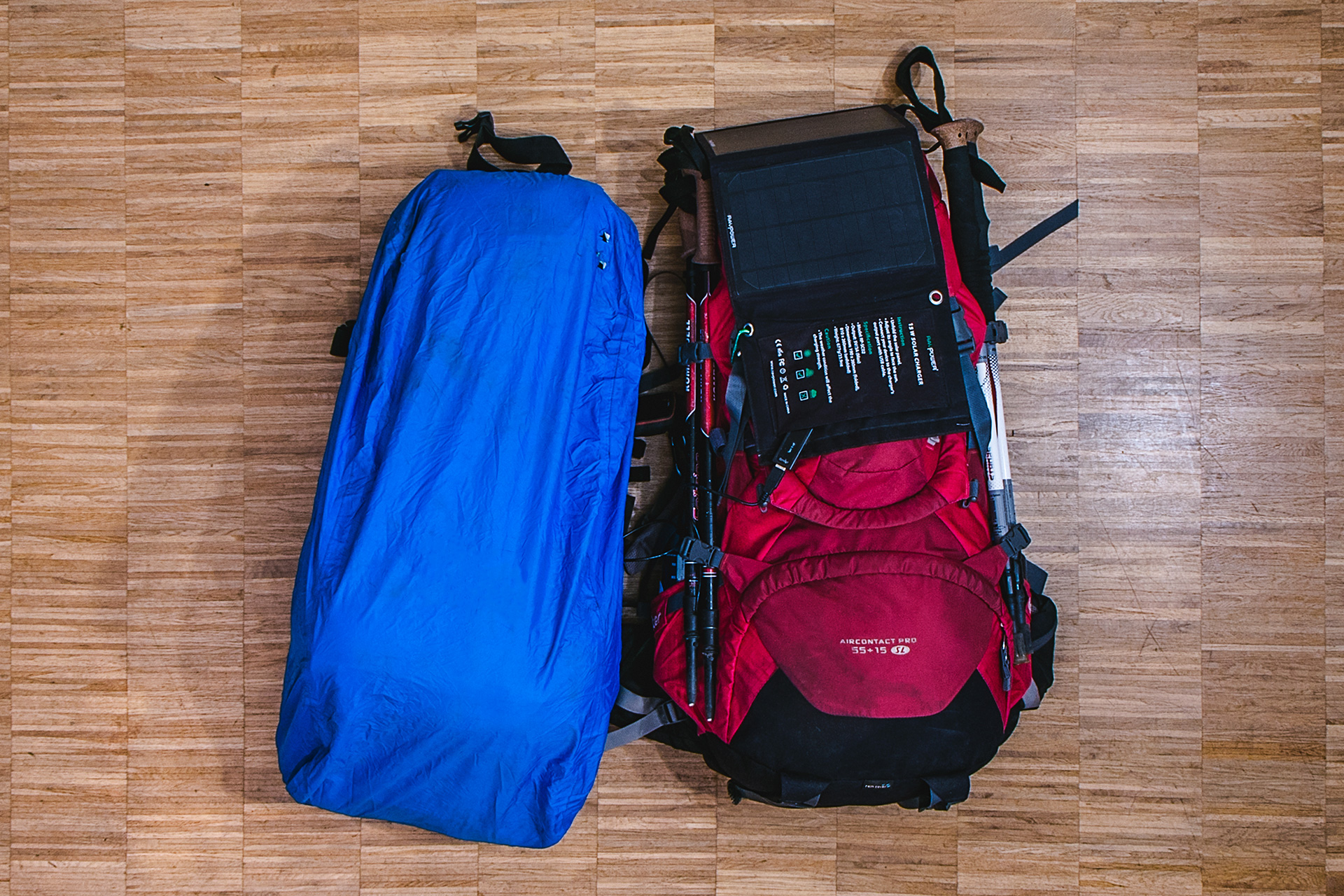 Our backpacks for the Everest Base Camp Trek