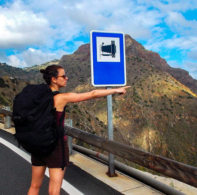la gomera hiking street Agulo - Vallehermoso