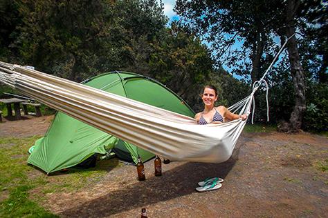 la gomera camping hammock