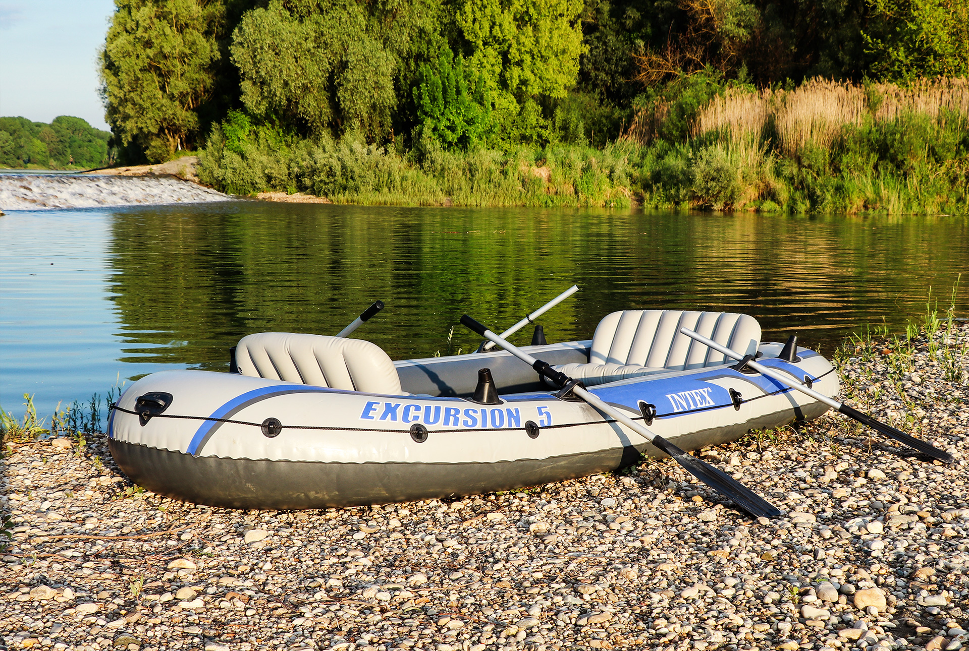 outside material inflatable boat intex in sunrise