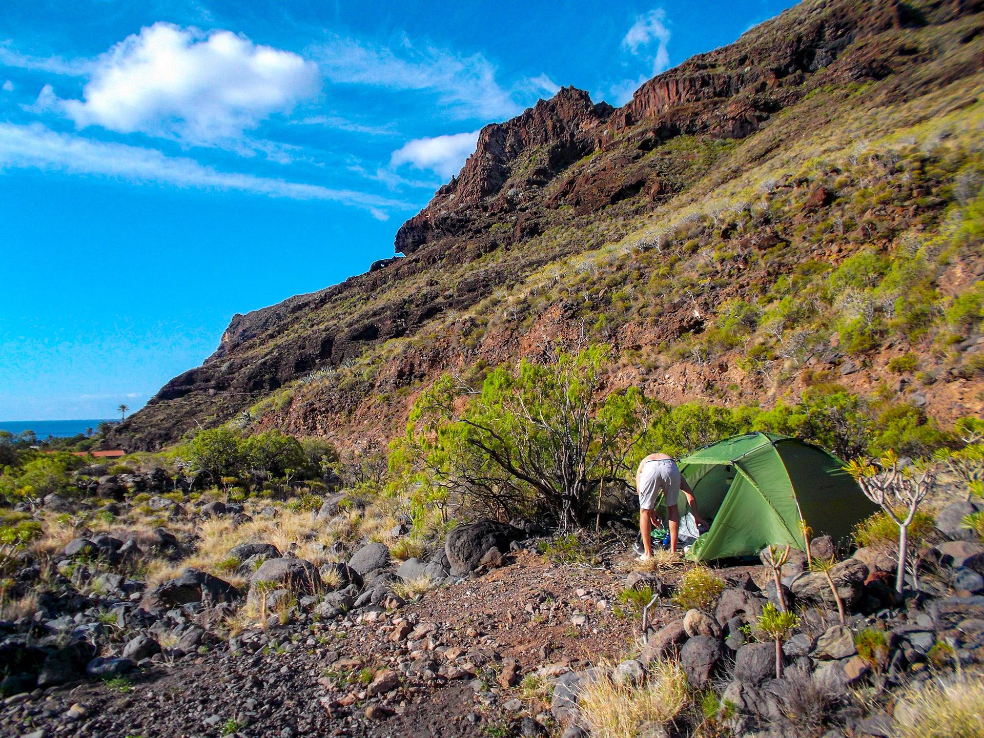 la gomera camping zelt