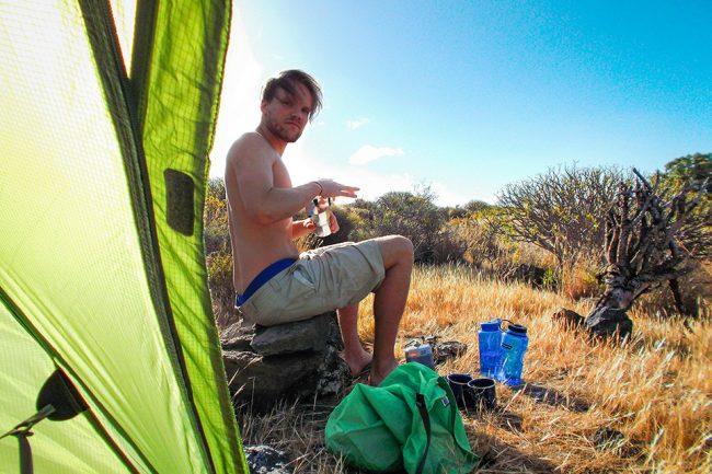outside material la gomera camping