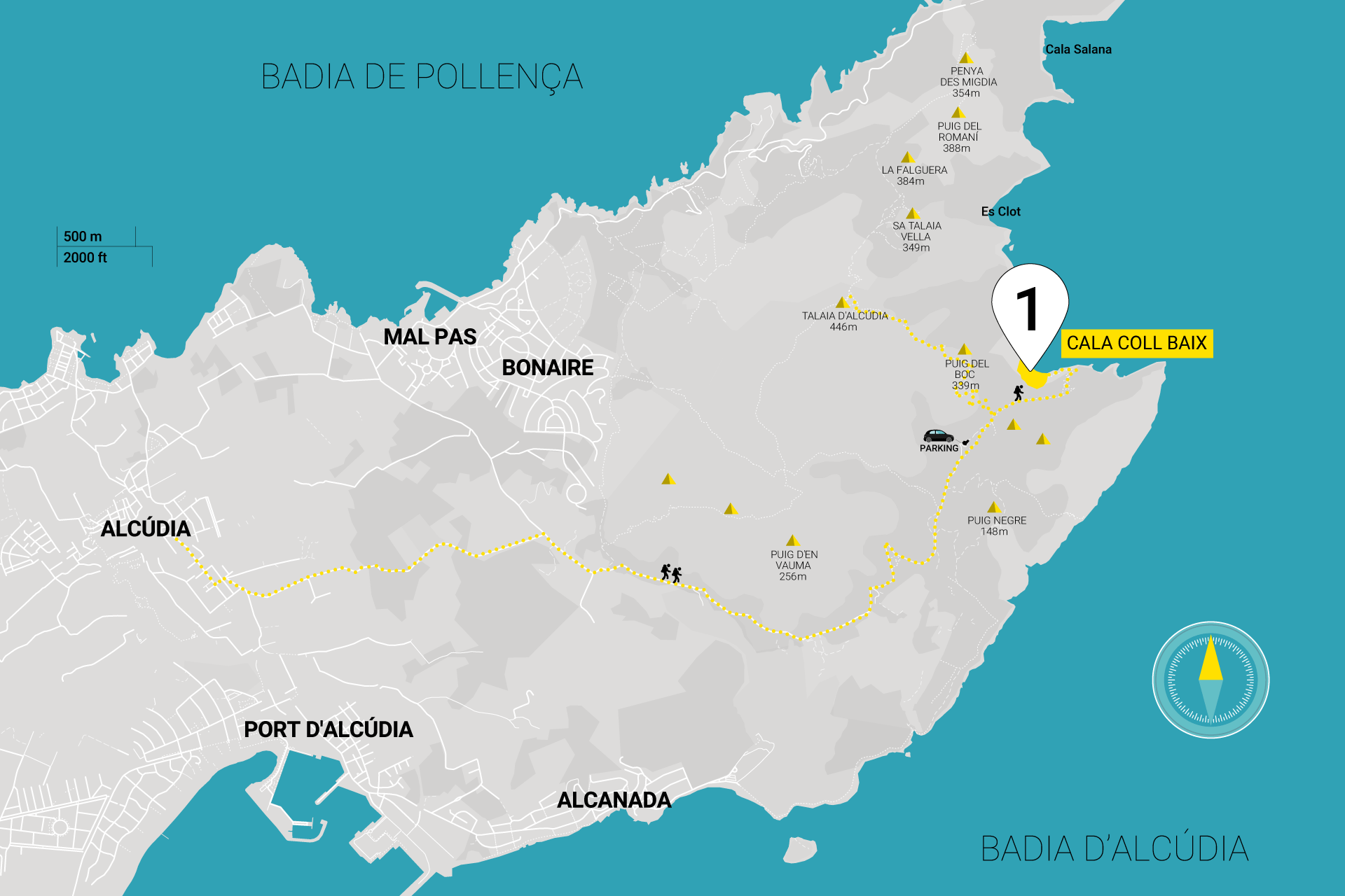 Directions | How to get to Calla Coll Baix | Map