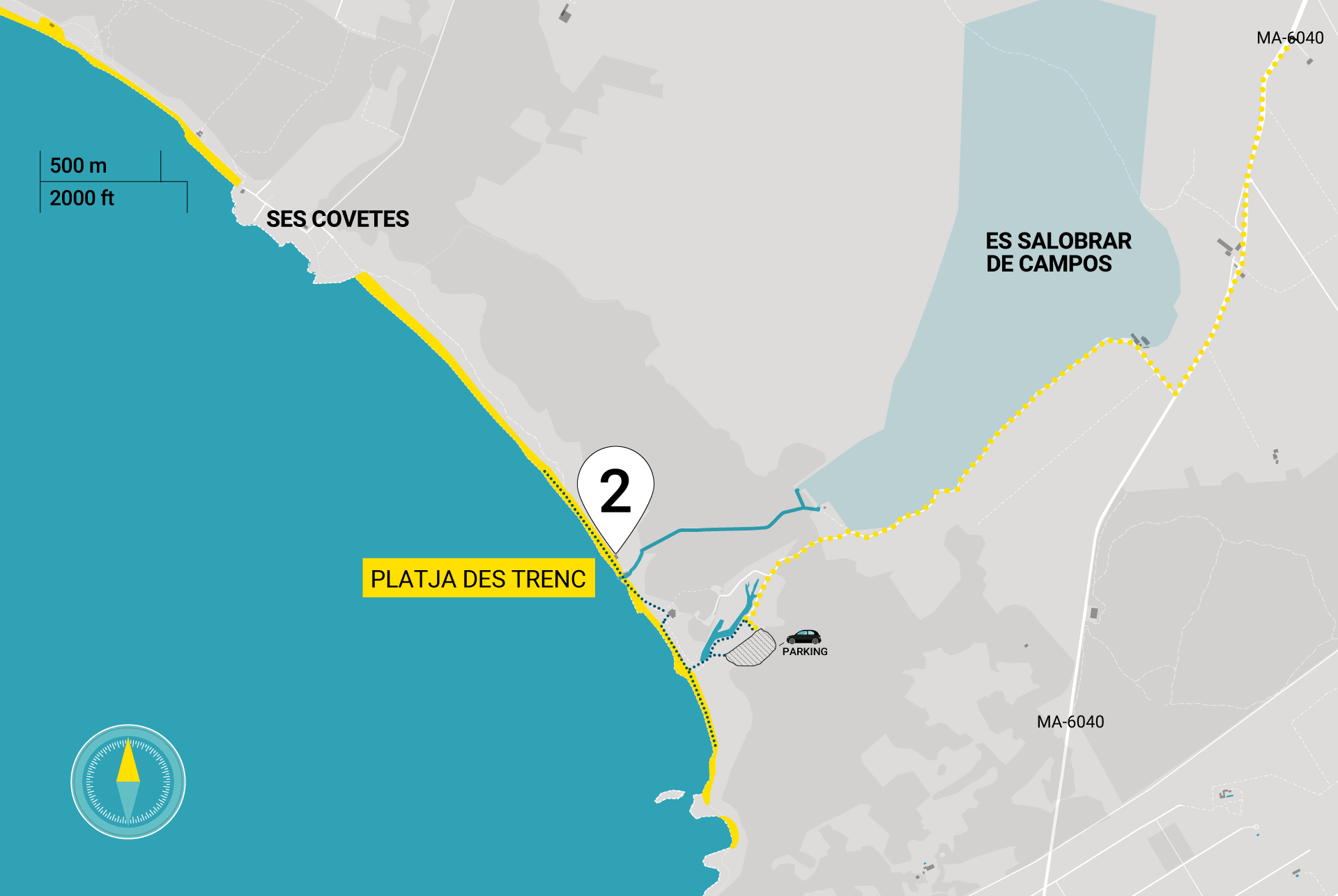 Directions | How to get to Platja des Trenc | Map