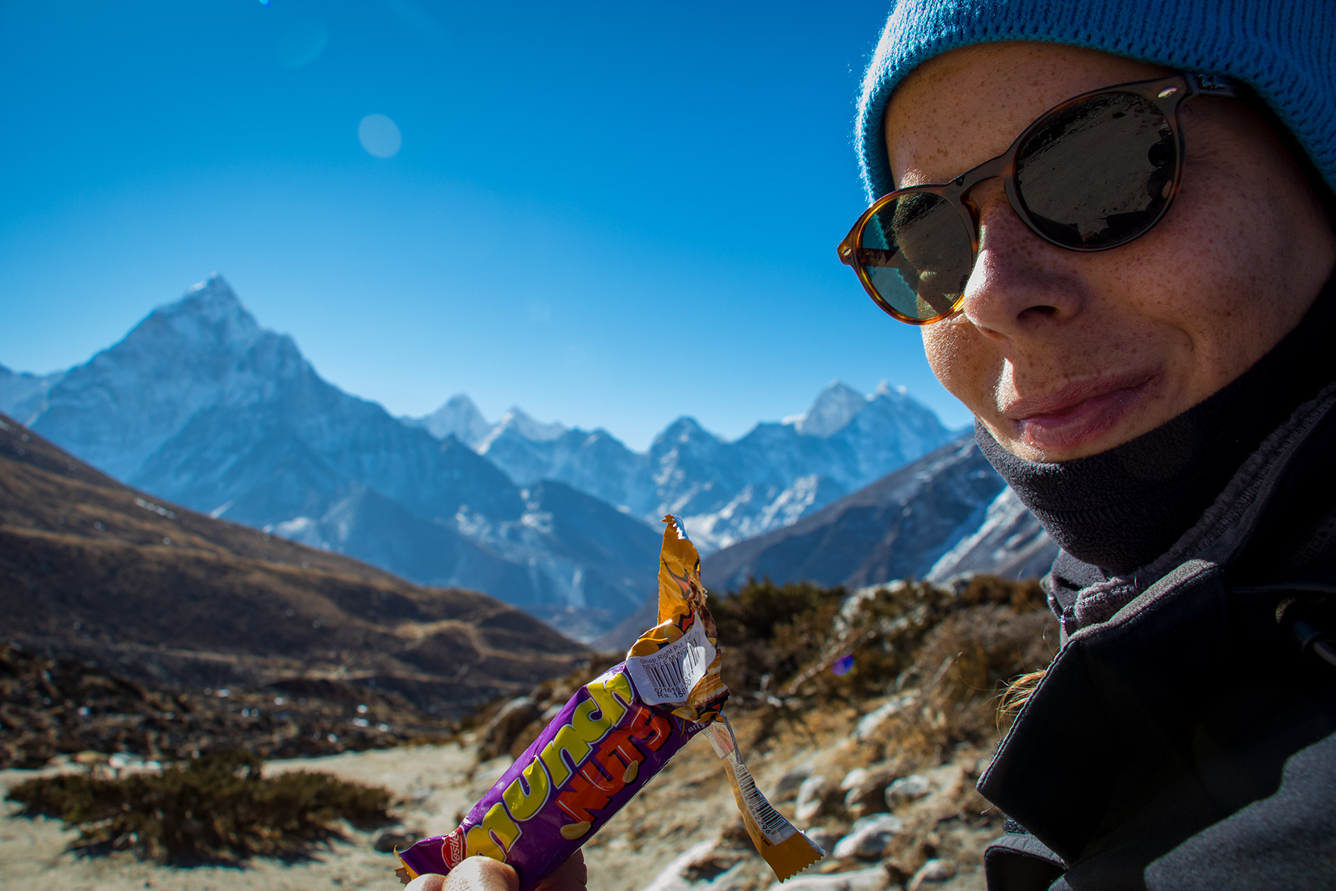 Snacking on the Everest Base Camp Trek