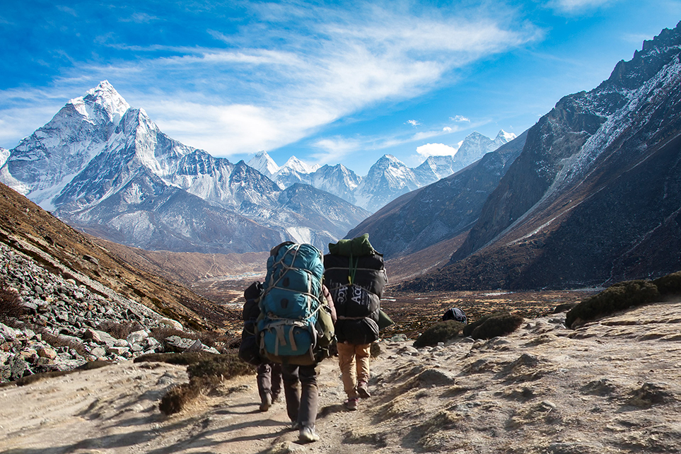 Everest scenery Ice peaks