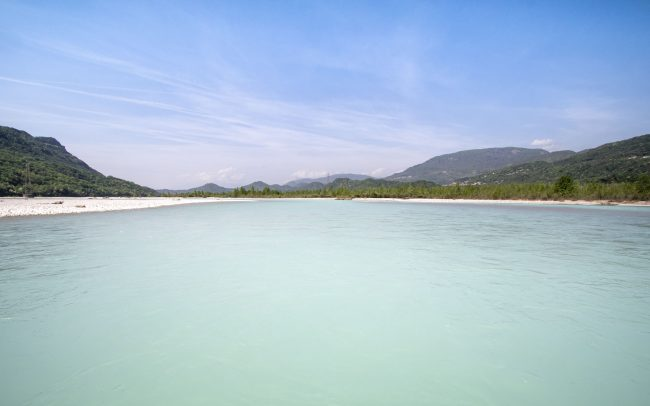 Rafting the Tagliamento in Italy   Inflatable Boat Tour   Carribean Vibes   Outside Material