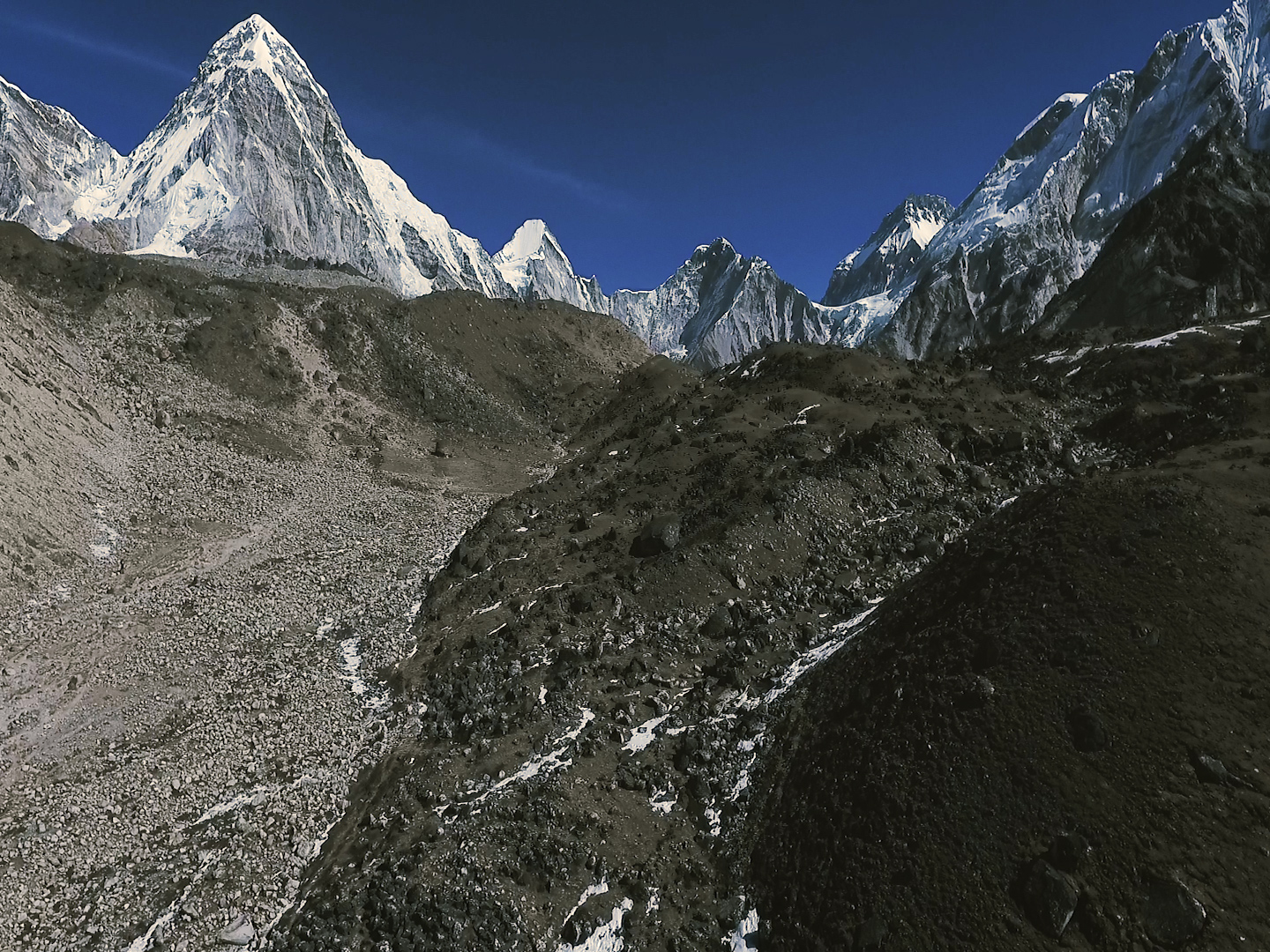 Everest Base Camp Drone Shot