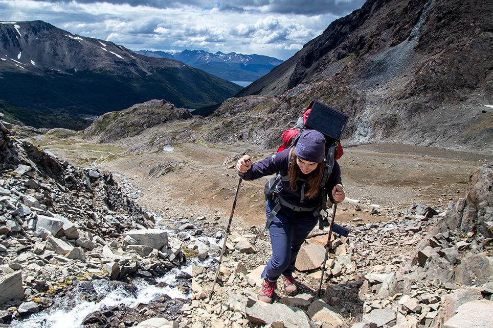patagonia isla navarino hiker