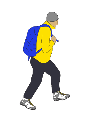 Walking school | Hiker | Graphic